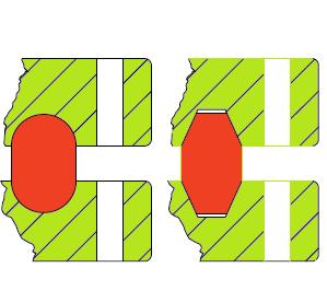 RTJ oval y octogonal